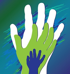 hand three vector image vector image
