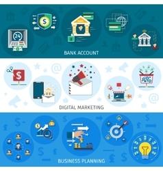 Banking Marketing Banners Set vector image vector image