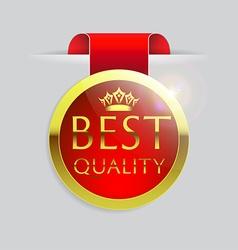 best quality golden badge vector image vector image