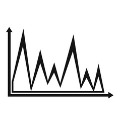 finance graph icon simple vector image