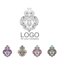 logo Owl doodle cartoon vector image vector image