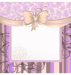background with bow vector image