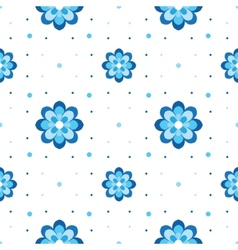 floral pattern Variation on Gzhel theme Simple vector image