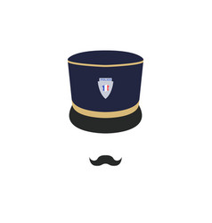 france police officer in hat policeman avatar vector image