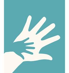 hands helping design vector image