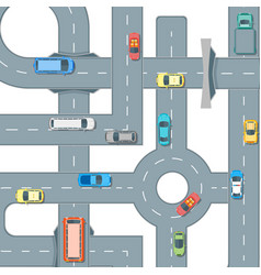 road and cars background pattern vector image