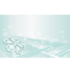 Snowflakes on a blue background vector image vector image