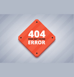 404 error page for website page not found error vector