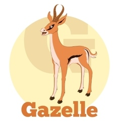 Abc cartoon gazelle vector
