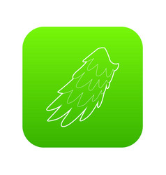 Angelic wing icon green vector