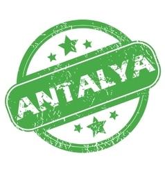 Antalya green stamp vector
