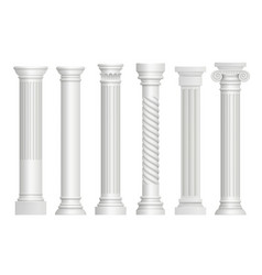 antique pillars greek historical rome classic vector image