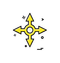 arrow icon design vector image