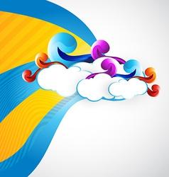 artistic cloud vector image