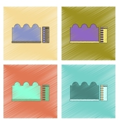 Assembly flat shading style icon wave height vector