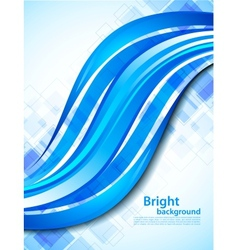 Background with blue wave vector image