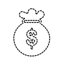 bag money bank finance economy commerce vector image