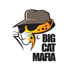 big cat mafia cartoon vector image