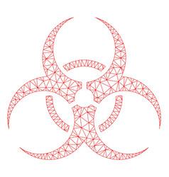 biohazard symbol mesh wire frame model vector image