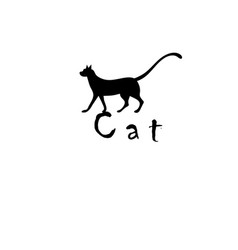 black beautiful symbol isolated cat silhouette vector image