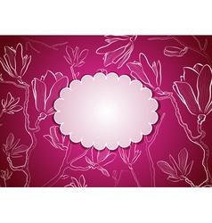 Bright Pink Floral Frame vector