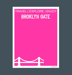 broklyn gate new york usa monument landmark vector image