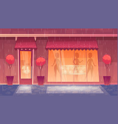 Cartoon round-the-clock boutique vector