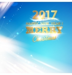 Christmas magic glow vector image