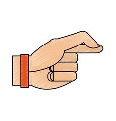 Color pencil image cartoon hand with bracelet vector