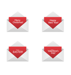 congratulations card set vector image