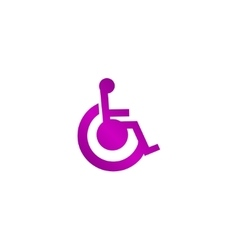cripple Flat Simple Icon vector image