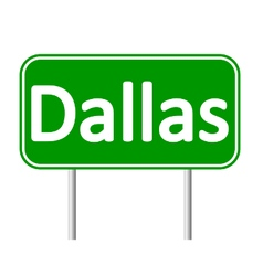 Dallas green road sign vector image