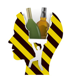 Danger alcohol addiction vector