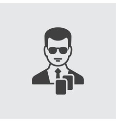 Dealer icon vector image