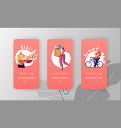 delivery service order shipping mobile app page vector image