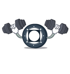 Fitness byteball bytes coin character cartoon vector