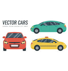 flat design car icon city transportation concept vector image
