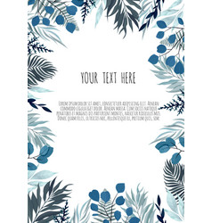 Floral design card greeting postcard vector