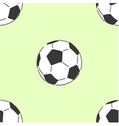 football soccerball seamless pattern tile hand vector image