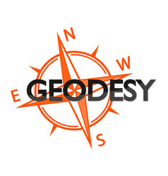 Geodesy and wind rose symbol vector
