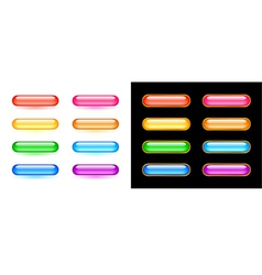 Glassy buttons set vector