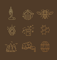 gradient honey icons vector image