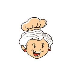Grandma chef cartoon vector