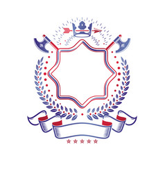 graphic emblem made with royal crown element vector image
