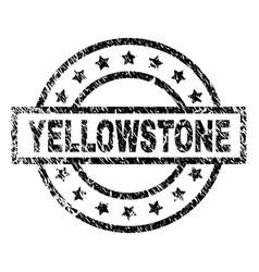 Grunge textured yellowstone stamp seal vector