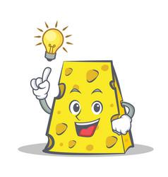 Have an idea cheese character cartoon style vector