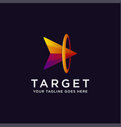head arrow on target logo icon vector image