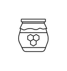 honey jar line icon food drink elements vector image