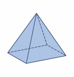 isolated pyramid vector image