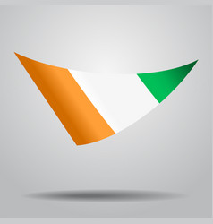 Ivorian flag background vector